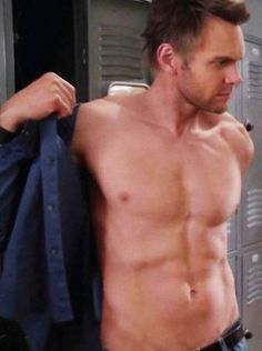 "Joel McHale. I had no idea! Maybe he should host ""The Soup"" shirtless?"