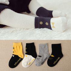 防滑袜子儿童袜子 1-3岁宝宝袜子3春秋 卡通童袜男袜子