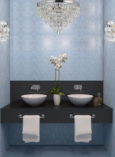 Let's Have a Better Bathroom with Bathroom Sink Bowls Vanity : Exquisite Image Of Bathroom Decoration Using Round White Ceramic Bathroom Sink Bowls With Vanity Including Light Blue Mosaic Glass Tile Bathroom Wall And Black Granite Bathroom Vanity Tops Bathroom Sink Bowls, Bathroom Mirror Design, Bathroom Drain, Bathroom Wall Decor, Bathroom Interior, Small Bathroom, Master Bathroom, Bathroom Lighting, Interior Paint