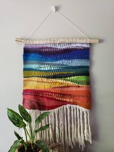 Your place to buy and sell all things handmade Tapestry Crochet, Tapestry Weaving, Red Brick Fireplaces, Weaving Wall Hanging, Wall Hangings, Feather Wall Decor, Hair Wrap Scarf, Tear, Weaving Patterns