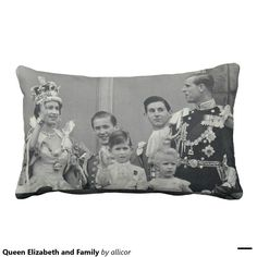 Queen Elizabeth and Family Pillows