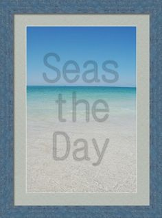 Framed beach quote on print by May Photography