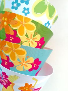 Luau Party Cupcake Wrappers | Instant Download | DIY Printable Luau Party Cupcake Wrappers