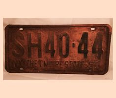 Antique New York NY License Plate 1951 The by DSalCodaDesign