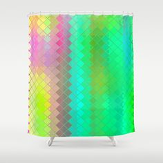 Re-Created  Flying Carpet III Shower Curtain by Robert S. Lee - $68.00
