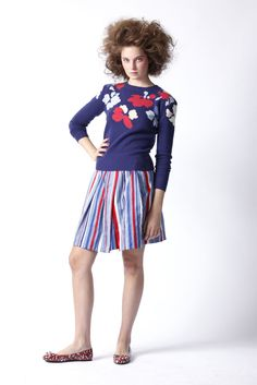 Marc by Marc Jocobs Resort 2010 - slim fit, purplely blue, graphic flowers. perfect.