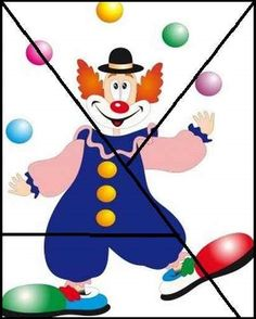 clown activity Carnival Activities, Toddler Activities, Preschool Activities, Clown Crafts, Circus Crafts, Drawing For Kids, Art For Kids, Crafts For Kids, Preschool Circus
