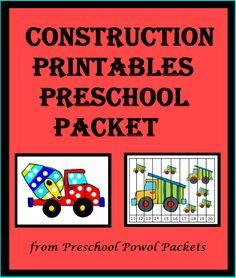 {3 Day FREEBIE} #Preschool #Construction Packet!!  Free for three days!!