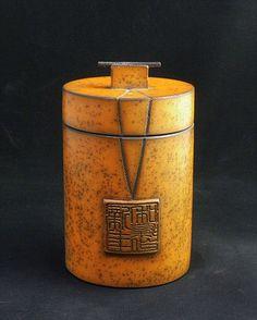 Glazes For Pottery, Ceramic Pottery, Pottery Art, Ceramic Boxes, Ceramic Jars, Kintsugi, Ikebana, Tea Jar, Isomalt