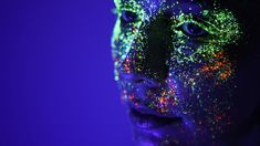 Portraits Made Alive By Electric Neon Paint