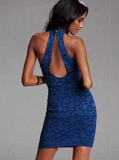 Open Back Lace Dress - Victoria's Secret... I love the cut out!