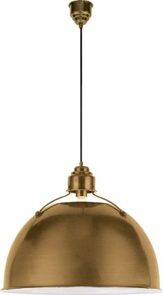 large eugene pendant light - hand-rubbed antique brass; also comes in small and medium