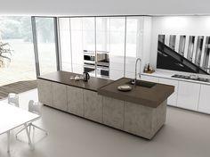 Comprex Filo Glam Kijk ook eens op www,artdesignwonen. Kitchen Dining, Kitchen Decor, Kitchen Island, Island Design, Concrete Floors, Apartment Design, Beautiful Kitchens, Interior Design Kitchen, Decoration