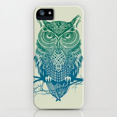 Warrior Owl iPhone Case by Rachel Caldwell - $35.00