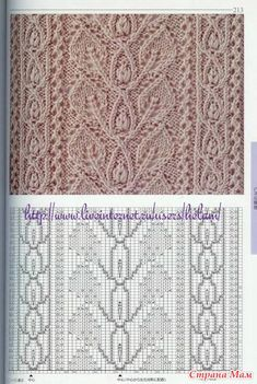 The new: Chique breipatronen, The new one: Chique pear cartridges, Lace Knitting Stitches, Cable Knitting Patterns, Crochet Stitches Patterns, Knitting Charts, Loom Knitting, Knitting Designs, Easy Knitting, Stitch Patterns, Crochet Slipper Pattern