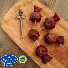 Foodie Quine: Meatball and Beetroot Thistles. Perfect for Burns Night!