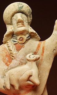 Terracotta figurine (detail) from a cave sanctuary at Lapithos (Kingdom of Lapethos, located at present day Northern Cyprus)