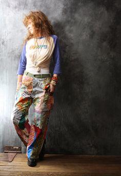 Vintage Dress Pants 1960s 1970s Woodstock Hippie by MajikHorse