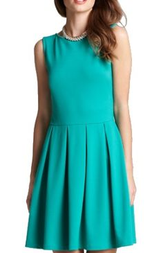 85e9aba72d1 Aqua ponte pleat front fit and flare dress  88 from Bloomingdales