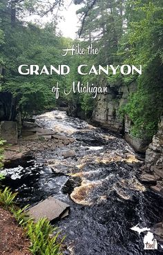 Upper Peninsula hike to Canyon Falls in the Sturgeon River Gorge. This is one of the most beautiful places in Michigan. An easy, scenic hike almost anyone can do.