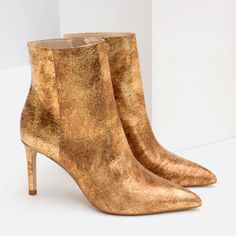 SHINY LEATHER HIGH HEEL ANKLE BOOTS-SHOES-WOMAN-SALE | ZARA United States