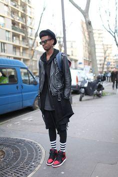 Paris Men's Fashion Week street style. [Photo by Kuba Dabrowski]