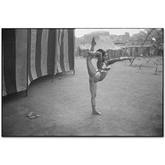 Circus acrobat rehearsing, Bombay, India 1974 by Mary Ellen Mark