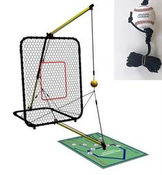 and Poly Baseballs for Kids Teens Ball Feeder Pitching Machine and Adults World Sports Products Inc. Trend Sports Sandlot 4-In-1 Batting Cage