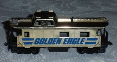 HO Scale Golden Eagle Caboose TYCO Vintage Collectible Train  #TYCO Train Sets For Sale, Model Trains Ho Scale, Ho Trains, Golden Eagle, Childhood Memories, Layouts, Hobbies, Smile, Ebay