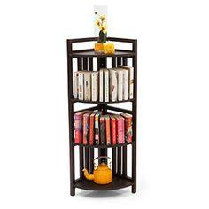 Thales 4-Shelf Corner Display (Mahogany Finish)