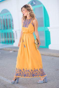 New Ideas Embroidery Dress Mexican Style Cute Dresses, Beautiful Dresses, Casual Dresses, Summer Dresses, Jw Mode, Mode Pop, Boho Fashion, Fashion Dresses, Dress Skirt