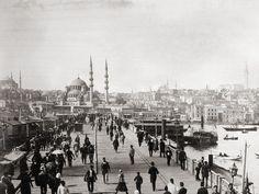 Galata bridge Constantinople (Istanbul). 1890s
