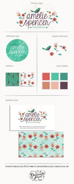 Custom Brand Identity Package / Custom Hand by Demoisellepixel