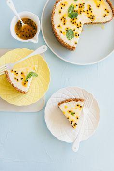 Recipe: White Chocolate + Passionfruit Cheesecake