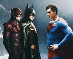 Superman Artwork, Batman Comic Art, Dc Comics Superheroes, Marvel Dc Comics, Brandon Routh Superman, Upcoming Dc Movies, Michael Keaton Batman