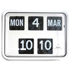Grayson White Digital Easy to Read Calendar Wall Clock Bank Shop BNIB - G225 in…
