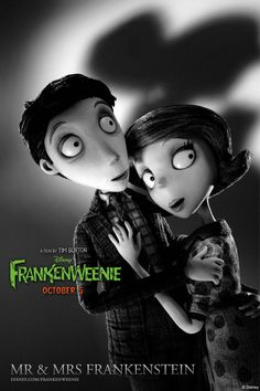 TB243. Mr. & Mrs. Frankenstein / Frankenweenie / Promo Movie Poster (XI) (2012) / #Movieposter / #Timburton