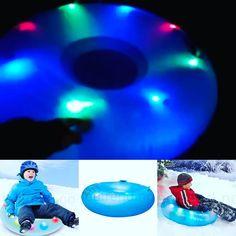 Hvis du ser ett UFO-akebrett med LED-lys som suser forbi deg så er det bare oss fra ledtrend  #ledtrend #ufoakebrett #akebrett #akebrettkjøring #fullfart #nedbakken #fart #moro #leke #barn #barneleke #ledsquad #ledufo #ufoakebrett #aking #vinter #snø