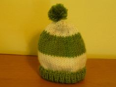 Winter baby hats can be knit in a matter of hours by intermediate knitters.