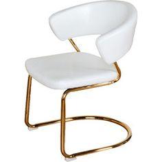 Brandie Accent Chair in White