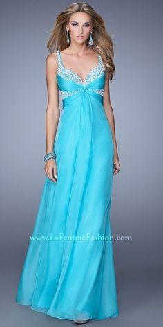 Knotted Pearl Bodice Prom Dress By La Femme