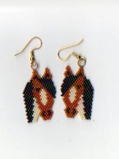 Native American Beaded Paint Horse Earrings by NativeWorks on Etsy, $18.00