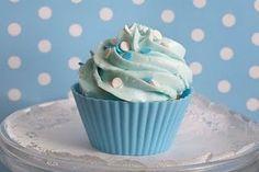 Achei muito fofo esse cupcake em tons de azul!!
