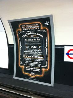 Strong Branding & Powerful Story Telling spotted on the London Underground from Jack Daniels.