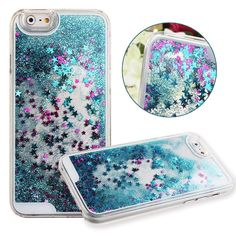 Amazon.com: Anko Quicksand Series Brilliant Luxury Bling Glitter Liquid Floating Heart Moving Hard Protective Phone Case Cover for Apple Iphone 6 4.7 Inch (Silver): Cell Phones & Accessories