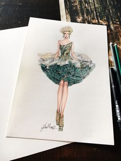 New Ideas For Fashion Ilustration Techniques Haute Couture Fashion Illustration Face, Illustration Mode, Fashion Illustrations, Fashion Week, Fashion Art, Trendy Fashion, Fish Fashion, Couture Fashion, Fashion Design Drawings