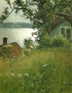 ХУДОЖНИК ANDERS ZORN / АНДЕРС ЦОРН (1860-1920). Июньский вечер