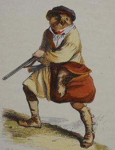 J.J. Grandville (1803 -1847)  -  Scenes De La Vie Privee Et Publique Des Animaux