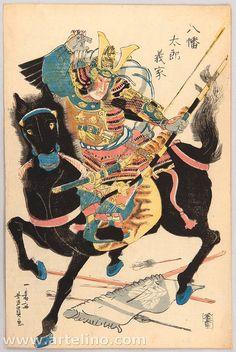 Ukiyo-e by Utagawa Yoshikazu of Minamoto Yoshiie