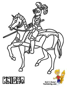 knight coloring page for boys at yescoloring